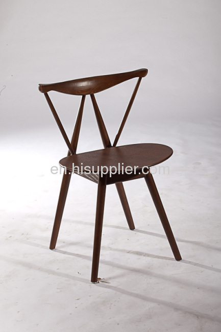 ash wood leisure reception room western dining room coffeehouse side chairs