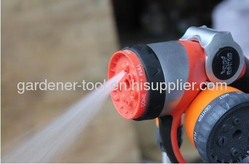 7-pattern matel garden water hose nozzle