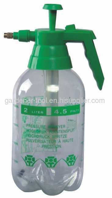 1.0L/1.5L/2.0L Transparent Plastic Garden Water Sprayer With Brass Nozzle