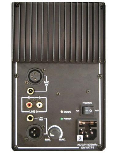 8hanging plastic speaker cabinet