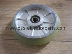 Car guide roller RG150 D=150mm, thickness 38mm, Bear 6003