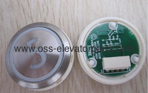 "Push button round silver cover red light ""2"" AVDBUT (PCB 853343H04)"