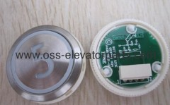 "Push button round silver cover red light ""4"" AVDBUT (PCB 853343H04)"