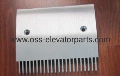 Travolator Schindler 9500 comb end left 205,4*181,36 - 22 tooth aluminum
