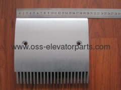 Schindler/Hyundai Travolator Schindler 9500 comb central/right 199,4*181,36-22 tooth aluminum