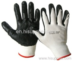 nitrile coated safety working gloves