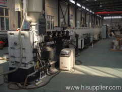 PE water pipe extrusion production line