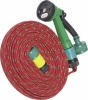 15M Flat Garden Hose Pipe With Spray Nozzle Set