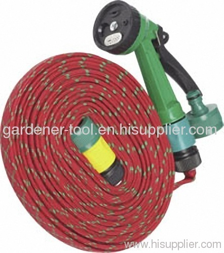 50FT Flat Water hose Set For Car Wash