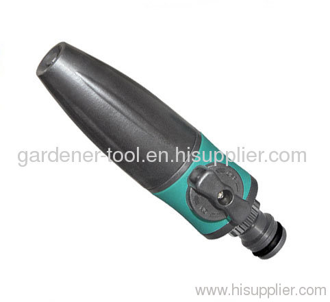 2-Function Garden Water Hose Nozzle With Valve And Soft Rotary Head