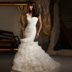 Newest Beautiful Long Ivory Wedding Dresses