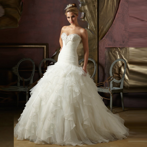 2013 Band New White Wedding Gowns From China Manufacturer