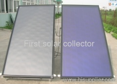 Flat Panel Solar Collector with Blue Titanium Absorber