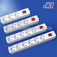 Power socket with switch