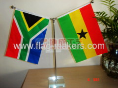 Custom Y style table flag with Square white Crystal stand