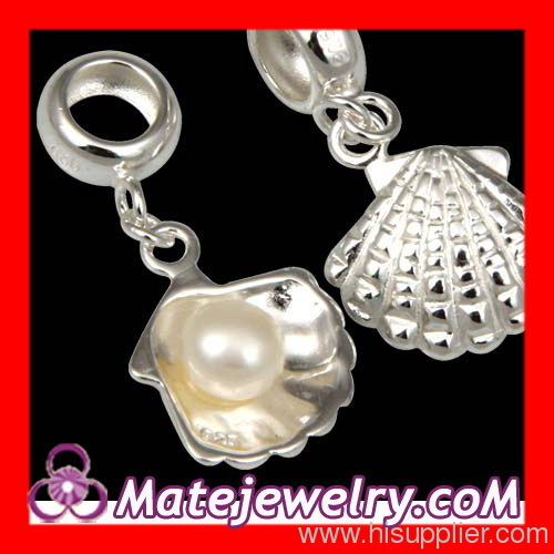 Sterling Silver Shell Pearl Charm