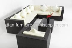Hotel pool furniture patio PE rattan sofa set
