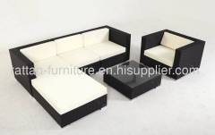 Outdoor garden rattan furniture modern sofa set lounger 6pcs