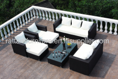 Hot sale CNNEWSKY outdoor rattan furniture lounger big sofa