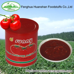 400g*24tins Canned 100% pure aseptic tomato paste to north a