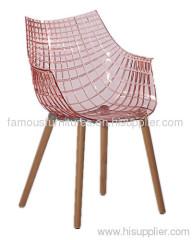 PC wood simple modern ergonomic Meridiana dining chairs