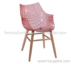 Wooden base Meridiana side chairs