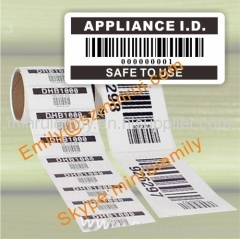 Custom Barcode Labels,Adhesive Barcode Stickers with sequence numbers