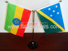 national table flag with Octagon black crystal base