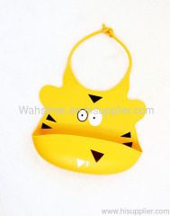 Easy washable silicone baby bibs for kids