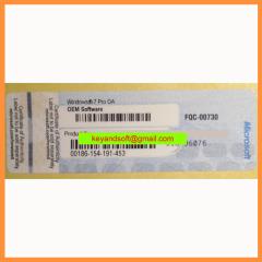 Win7 Pro COA Label Sticker License Key Card