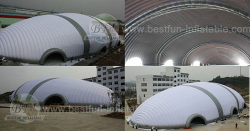 White Inflatable Ripstop Rugby Tent