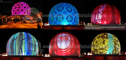 New Design Inflatable Projection Dome Tent