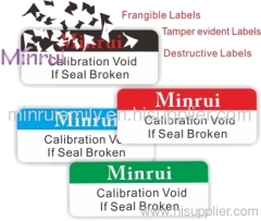 Destructible Tamper Evident Seal Stickers