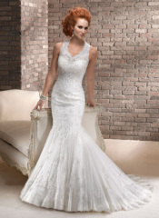 GEORGE BRIDE Strap Lace Mermaid Wedding Dress With Special Back Design