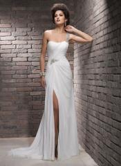 Unique taffeta Classic Bridal Dress