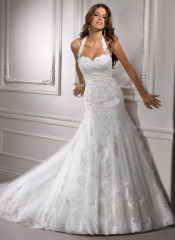 Winter Polyester wedding gown