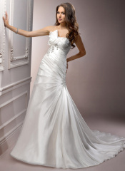 winter satin wedding dresses