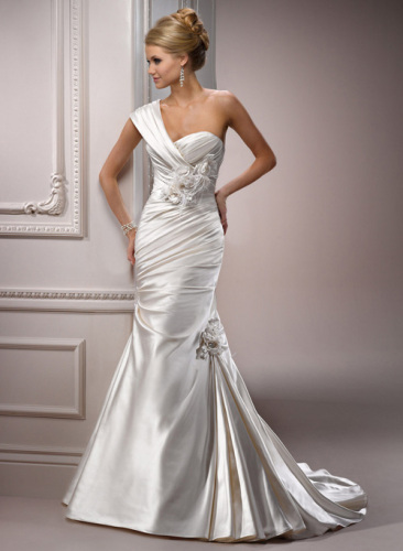 promotion wedding dresses A line strapless gown