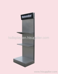 Metal exhibition display shelf