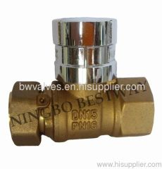Brass Water Meter Magnetic Lockable Ball Valve