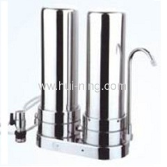 2-stages stailess steel standing home water purifier
