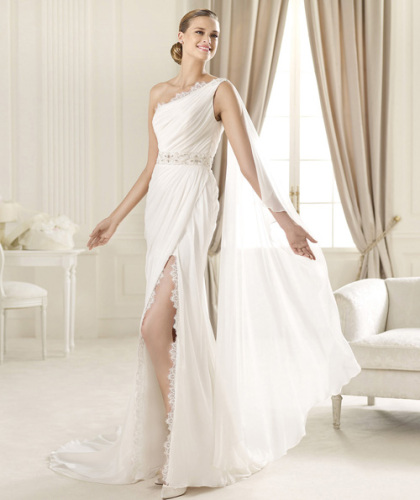 Slim line strapless Wedding gowns new design