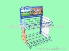 desk-top wire basket Bread chips display