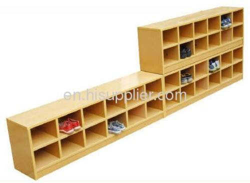 Kids Wooden Shoes Shelf LT 2150H Manufacturer From China