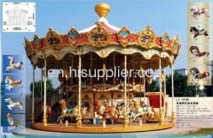 Outdoor amusement park merry go round