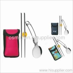 Set of 2 portable-tableware (bag)