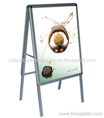 Aluminium poster stand for outdoor promotion