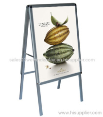 double side aluminum poster stand/ advetising poster stand