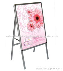 portable aluminum poster stand