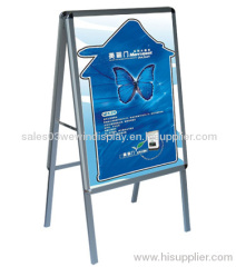 Aluminum poster stand,double sided floor standing poster frame